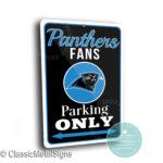 Carolina Panthers Parking Only Sign