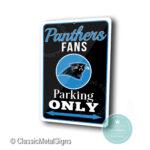 Carolina Panthers Parking Only Signs