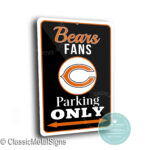 Chicago Bears Parking Only Sign