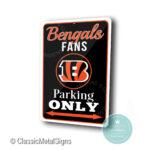 Cincinnati Bengals Parking Only Sign