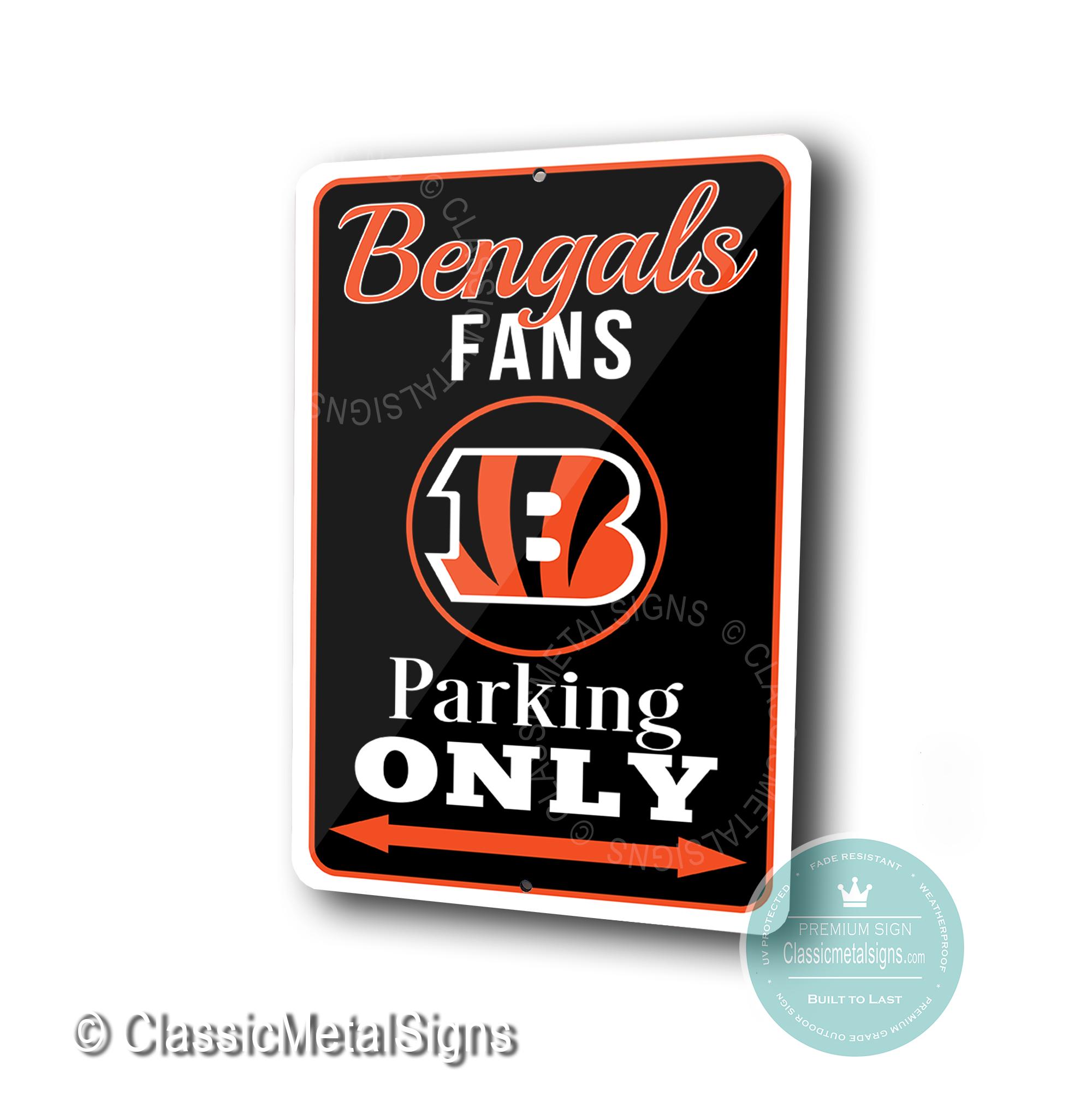 Cincinnati Bengals Parking Only Signs