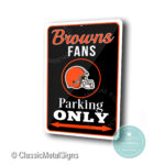 Cleveland Browns Parking Only Sign