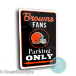 Cleveland Browns Parking Only Signs
