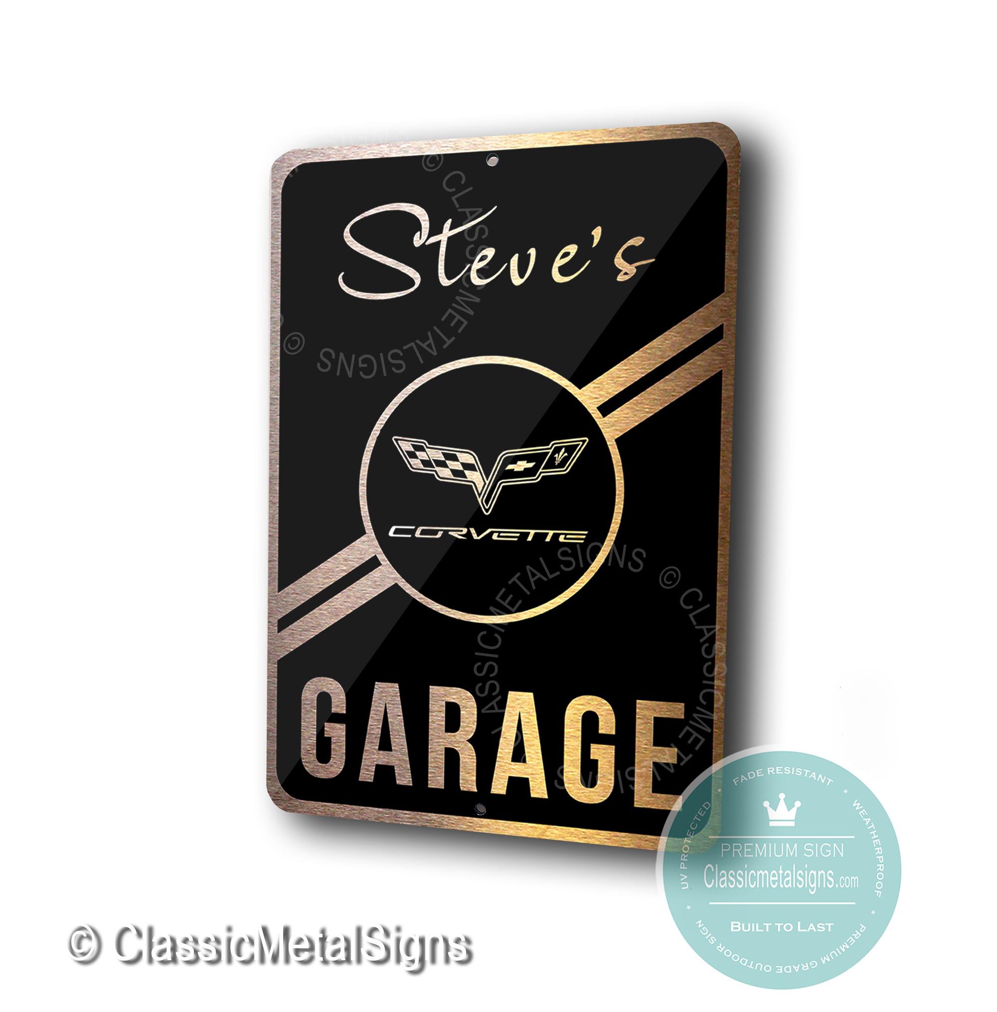 Custom Corvette Garage Signs
