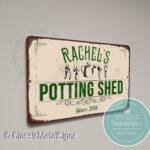 Custom Potting Shed Signs