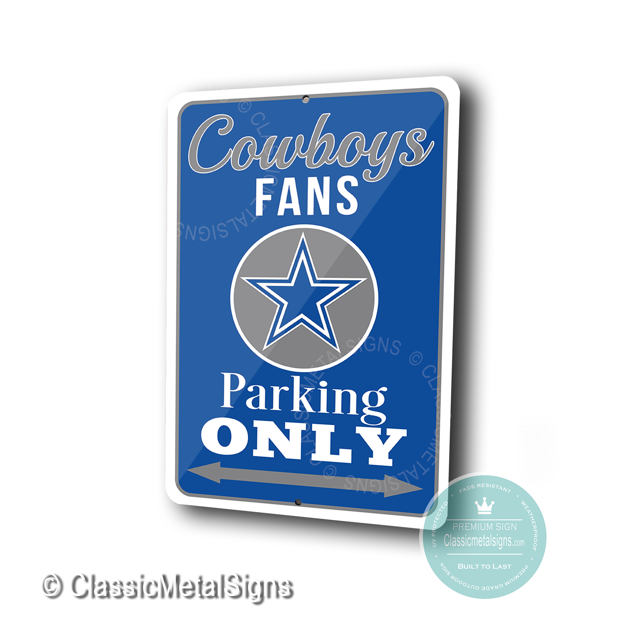Dallas Cowboys Parking Only Signs