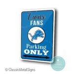 Detroit Lions Parking Only Sign