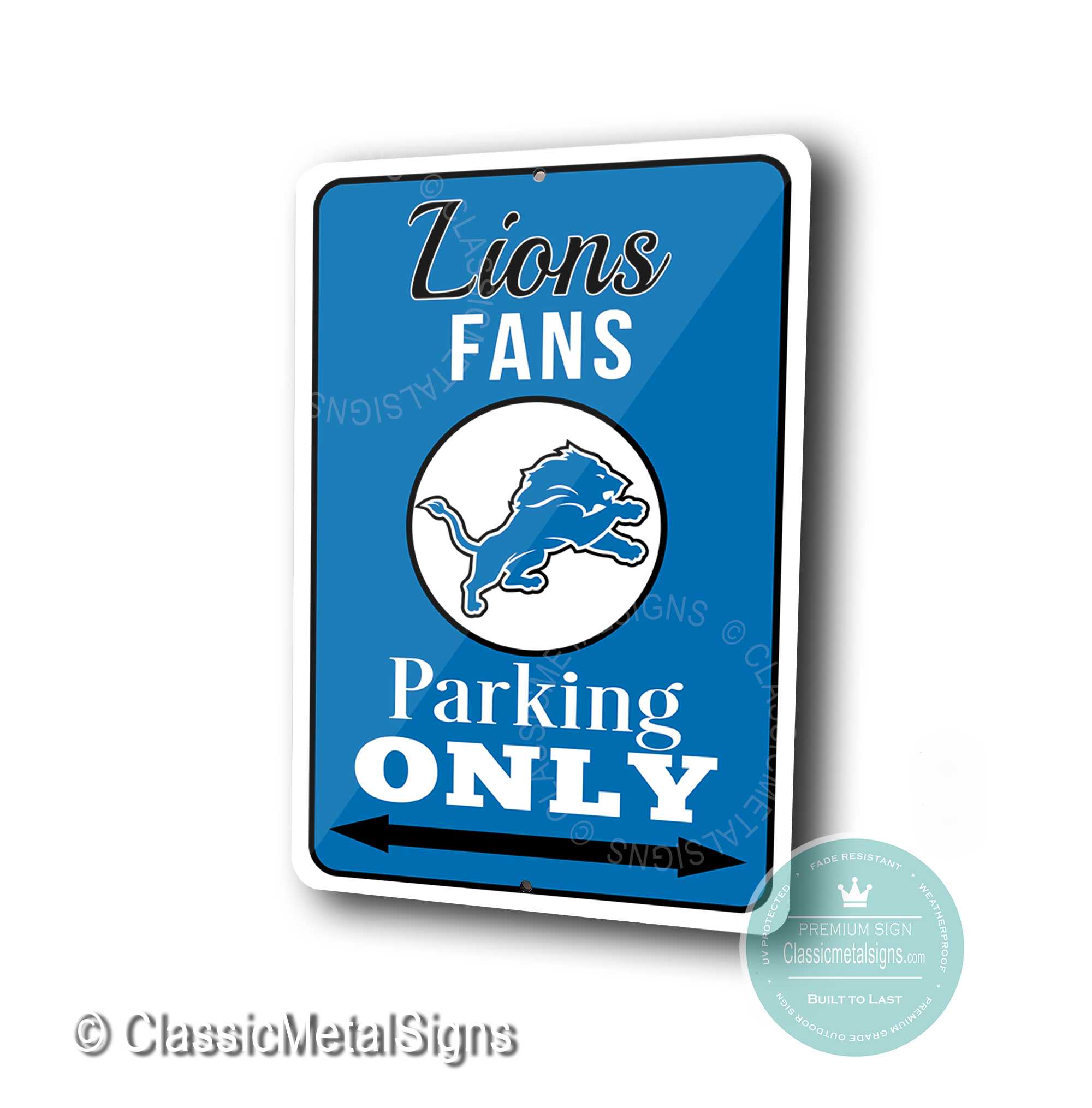Detroit Lions Parking Only Signs