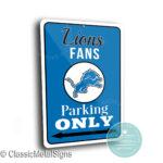 Detroit Lions Parking Sign