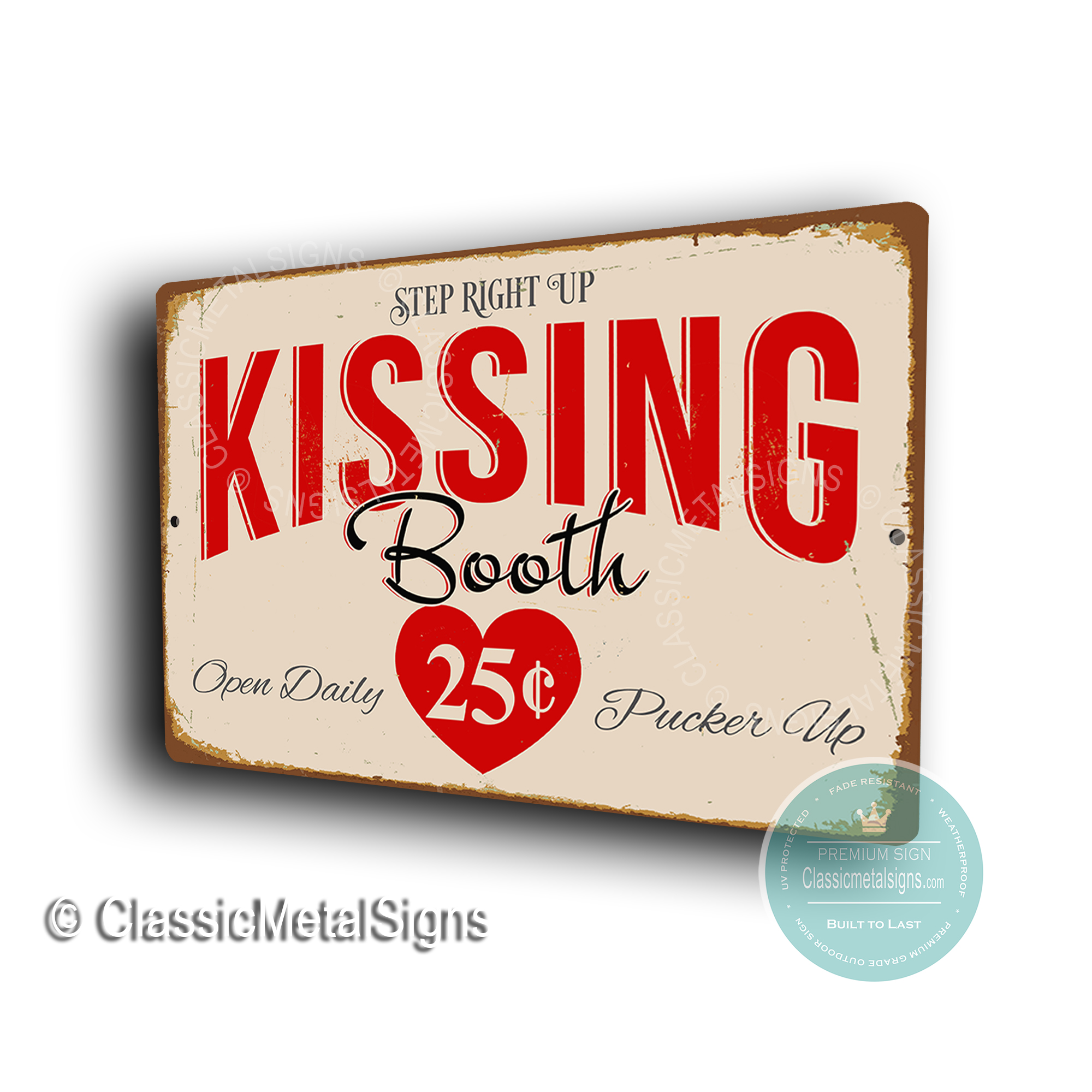 Kissing Booth Signs