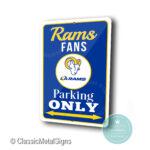 LA Rams Parking Sign