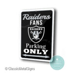 Las Vegas Raiders Parking Only sign