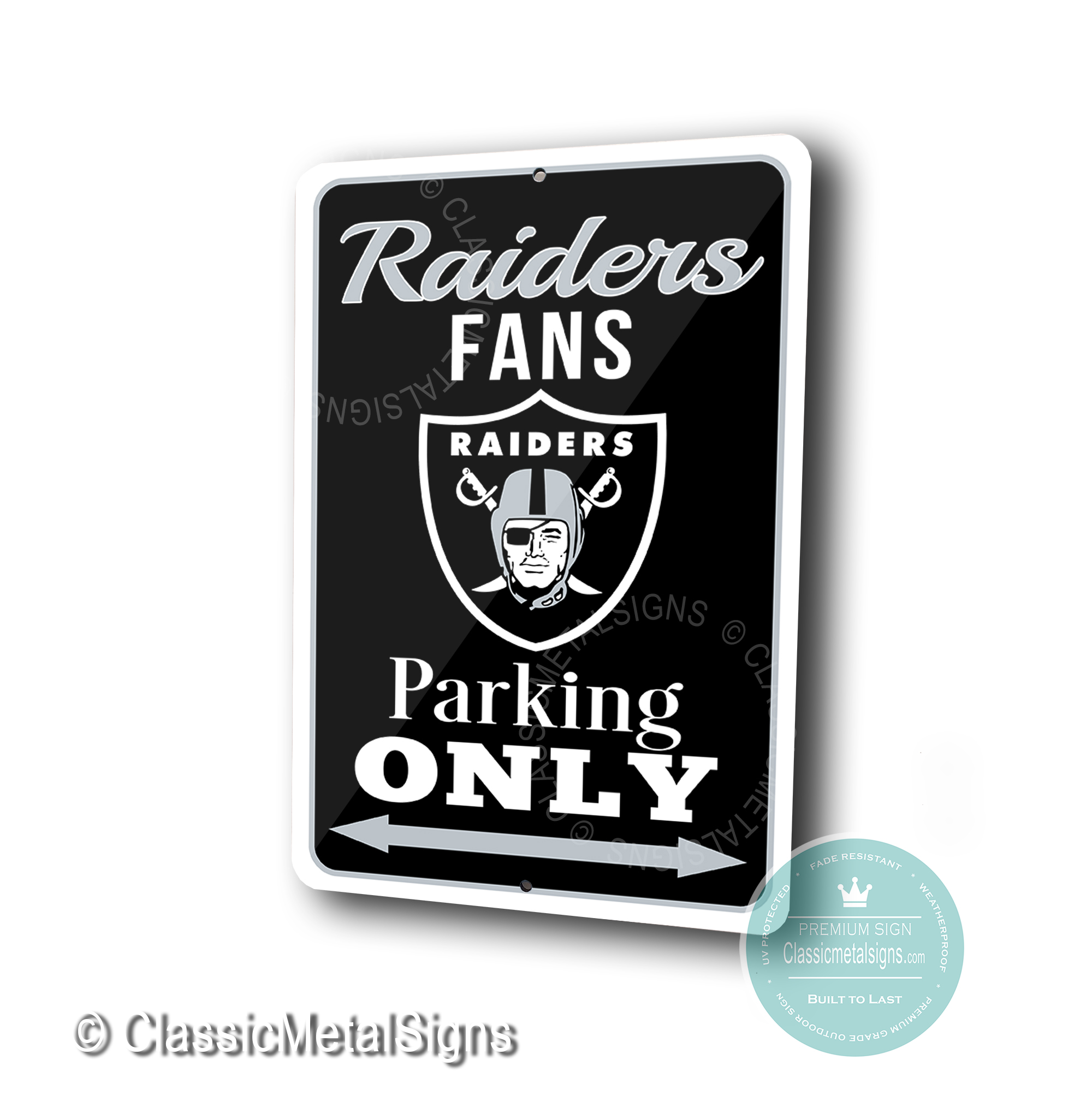 Las Vegas Raiders Parking Only signs