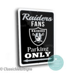 Las Vegas Raiders Parking sign