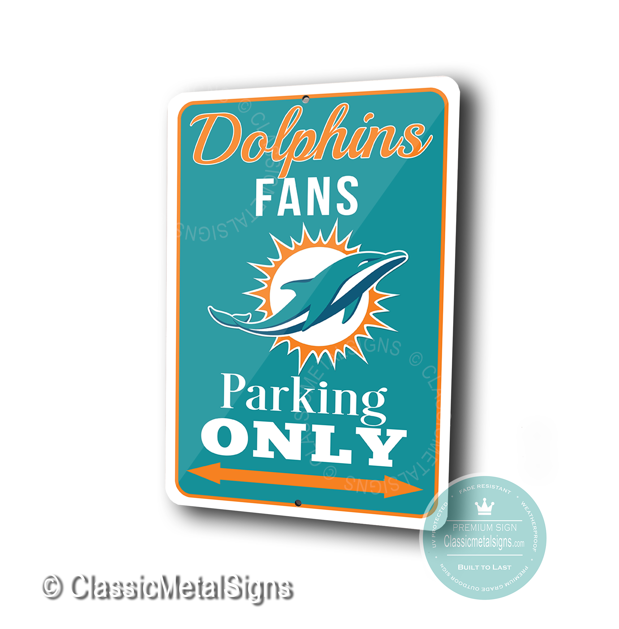 Miami Dolphins Parking Only Signs