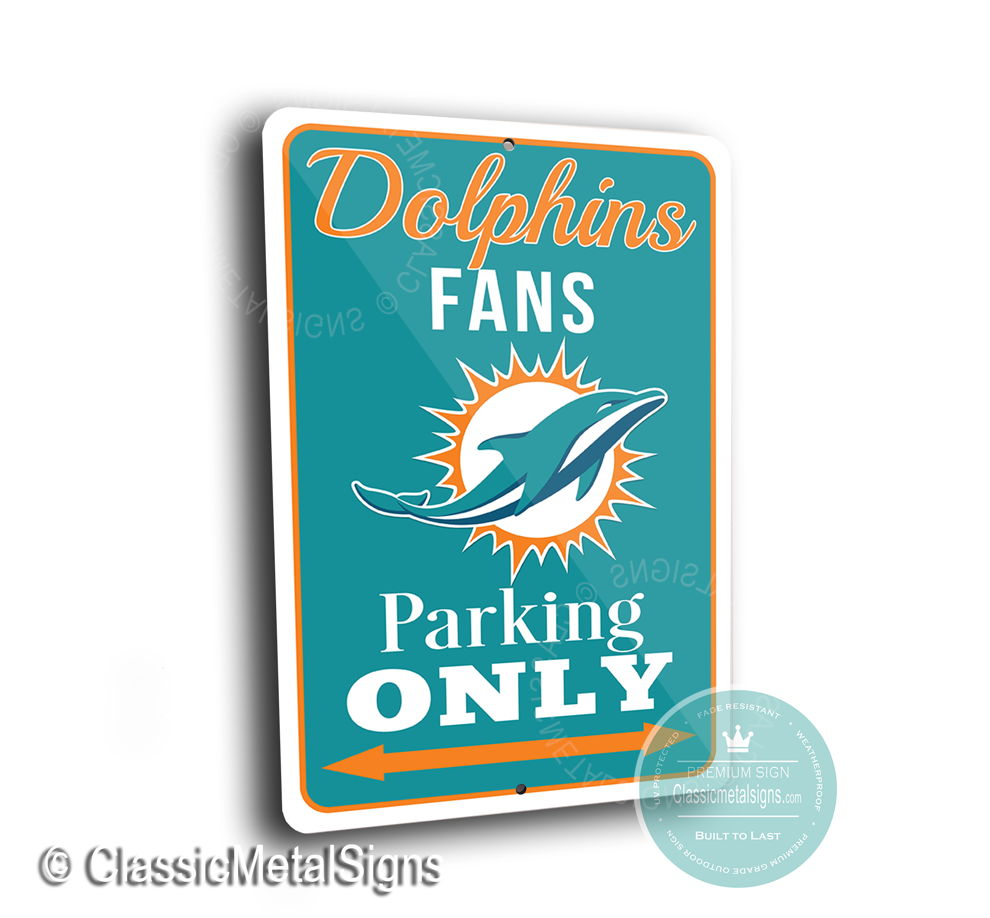 Miami Dolphins Parking Signs