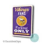 Minnesota Vikings Parking Only Sign