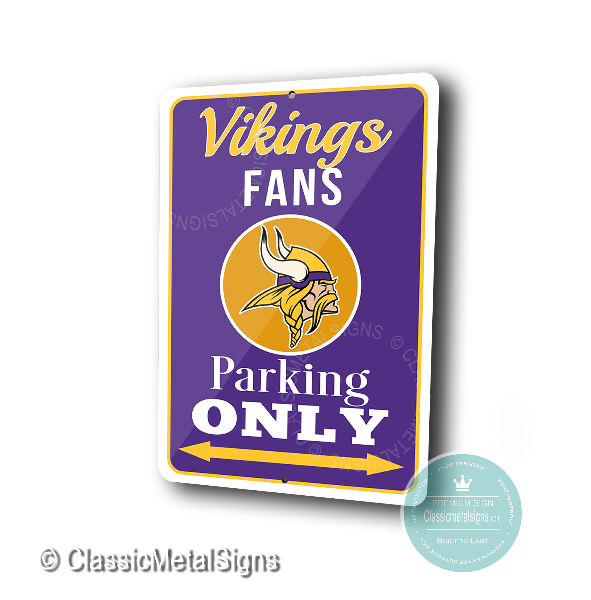 Minnesota Vikings Parking Only Signs
