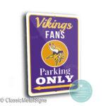 Minnesota Vikings Parking Sign