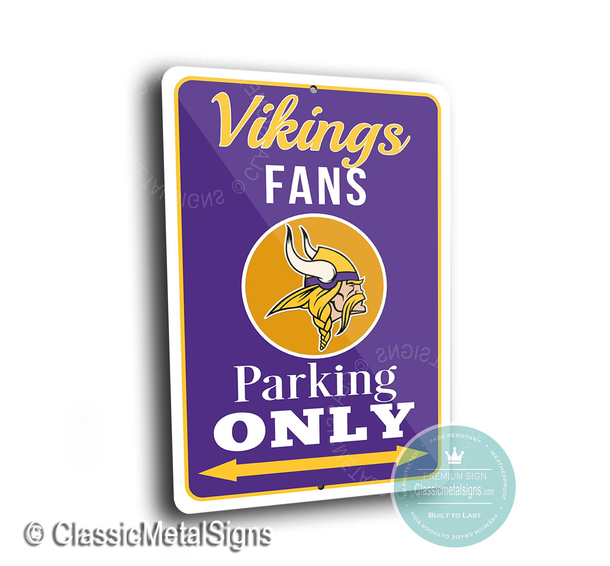 Minnesota Vikings Parking Signs