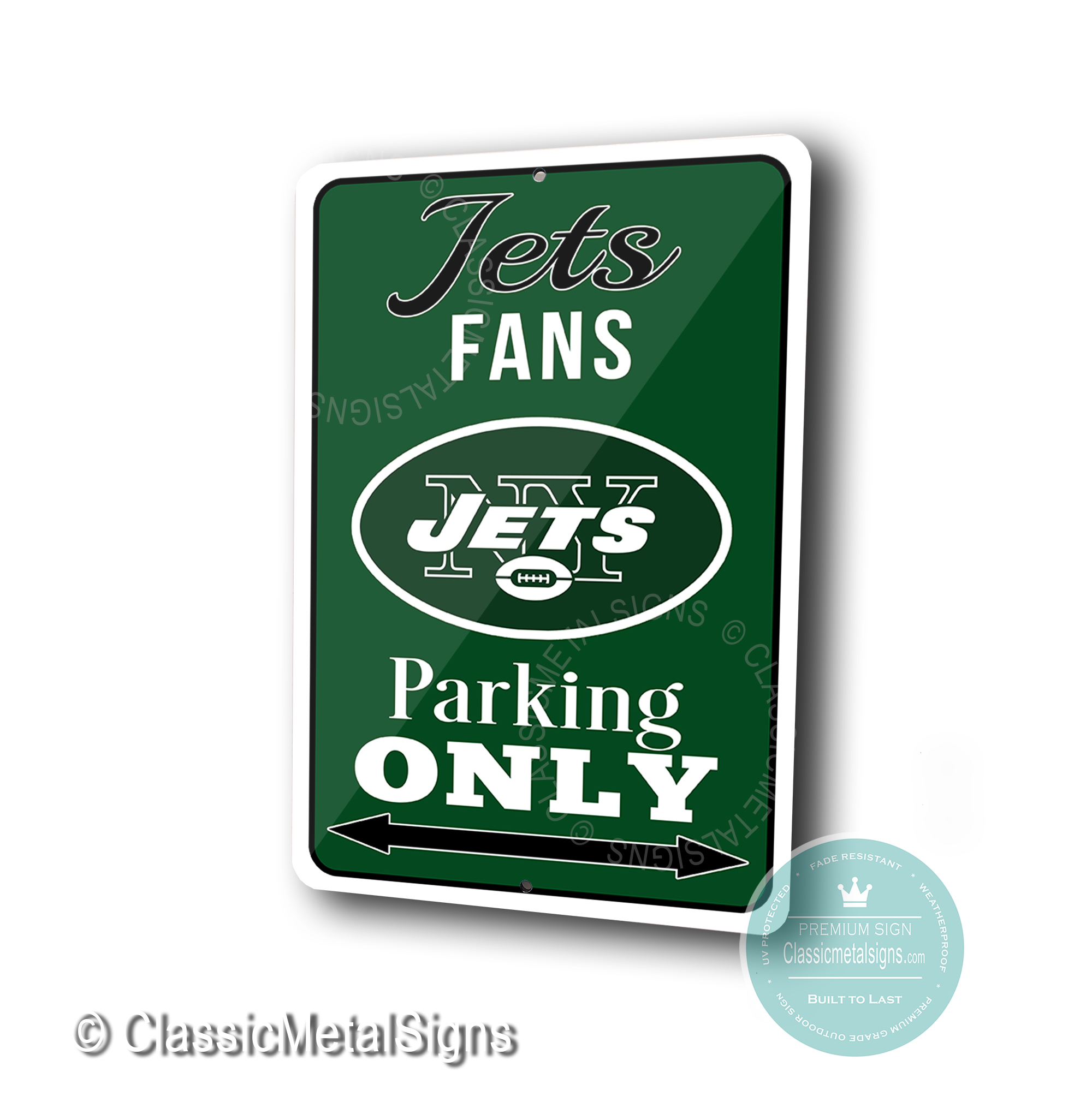 New York Jets Parking Only Signs