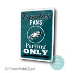 Philadelphia Eagles Parking Only Sign