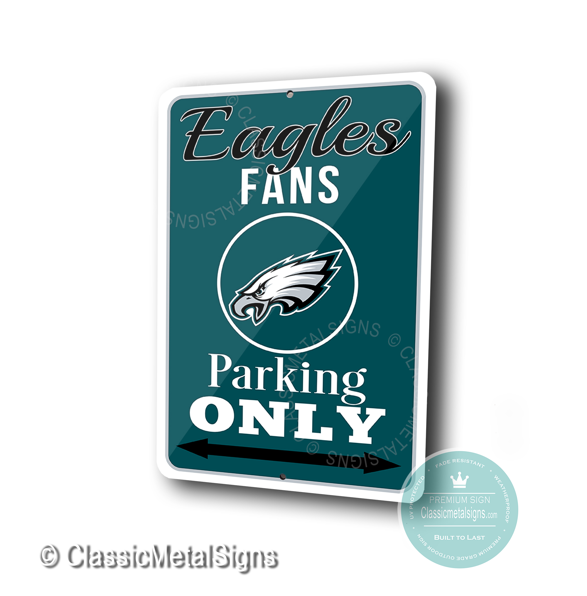 Philadelphia Eagles Parking Only Signs