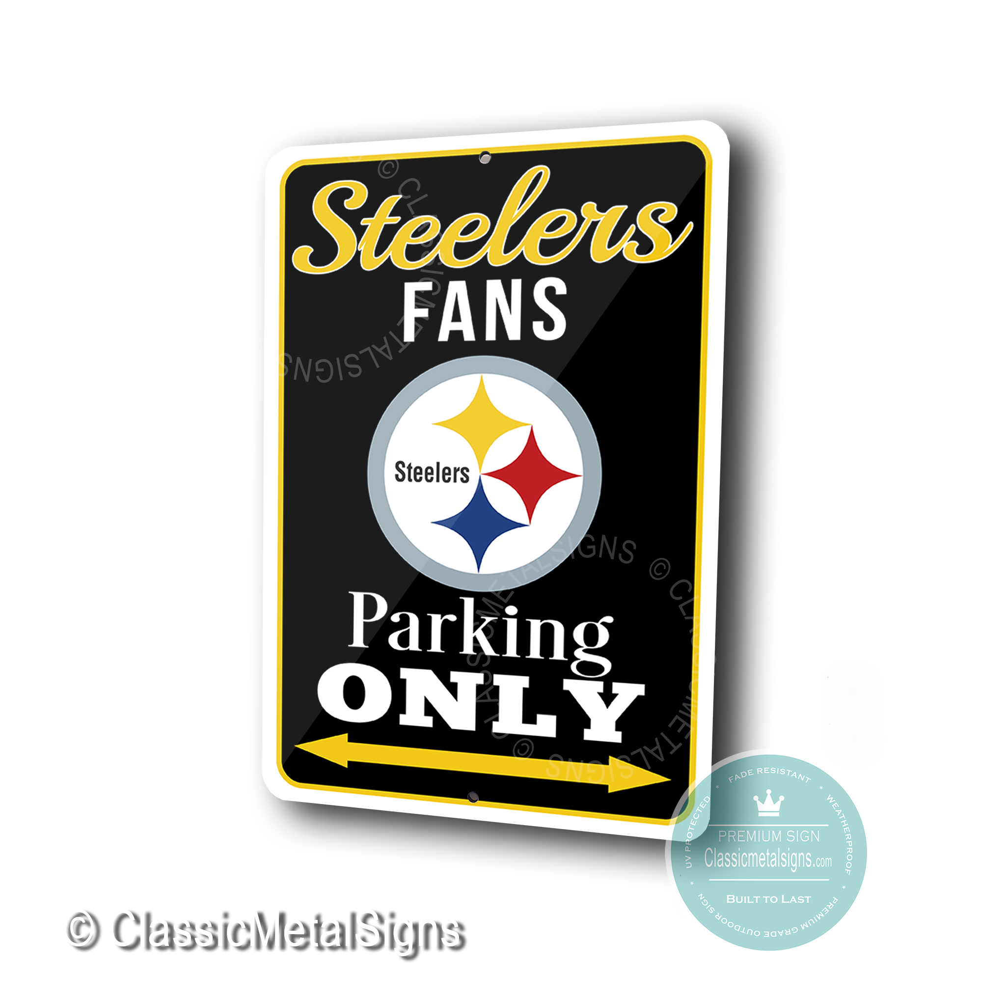 Pittsburgh Steelers Parking Only Signs