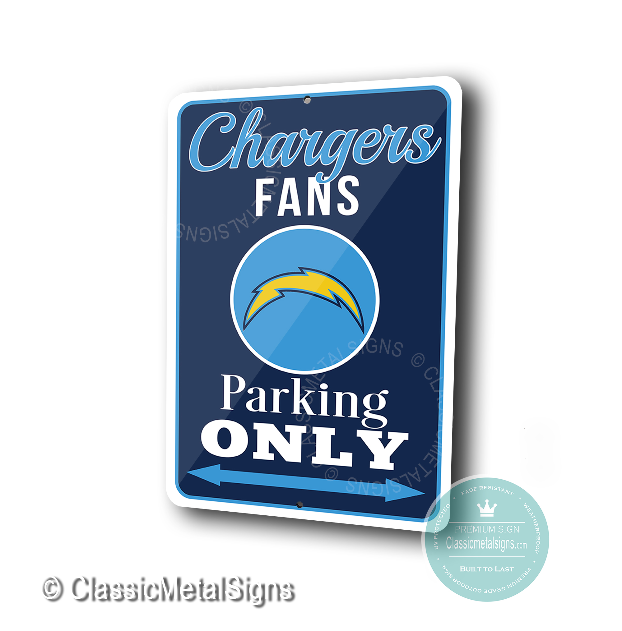 San Diego Chargers Parking Only Signs