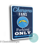 San Diego Chargers Parking Sign