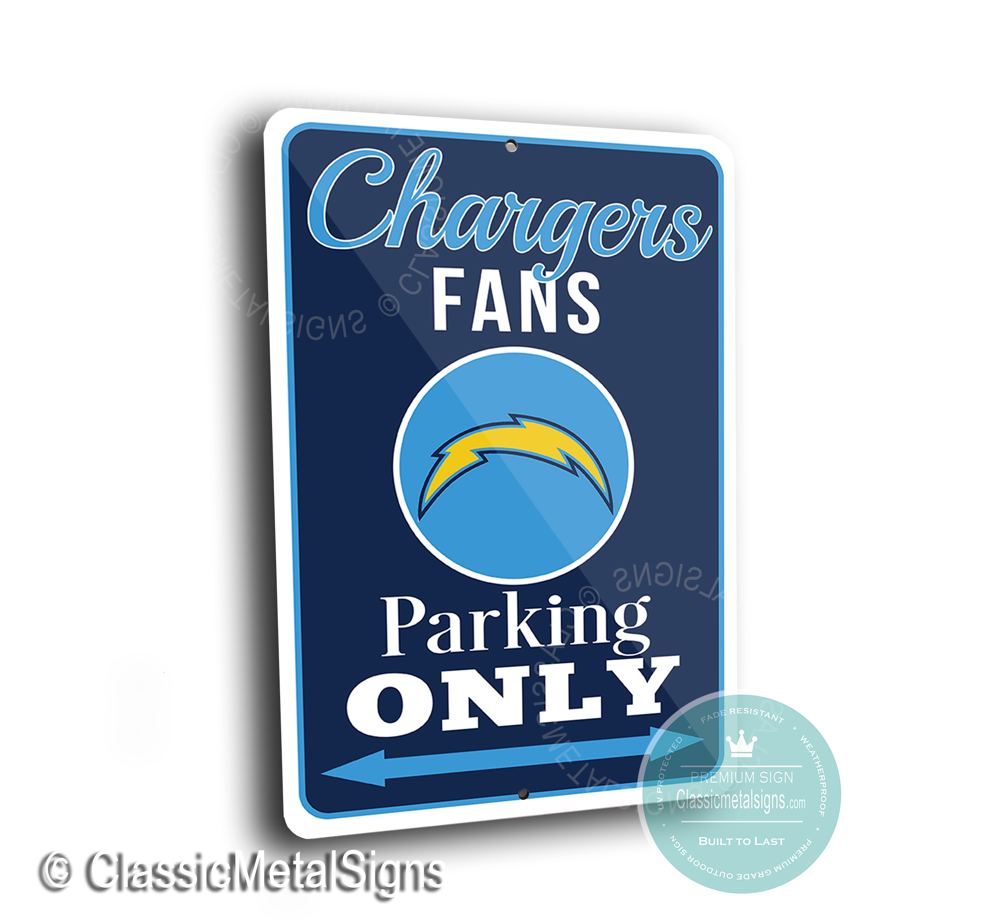 San Diego Chargers Parking Signs