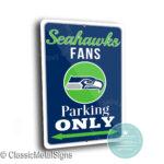 Seattle Seahawks Parking Signs