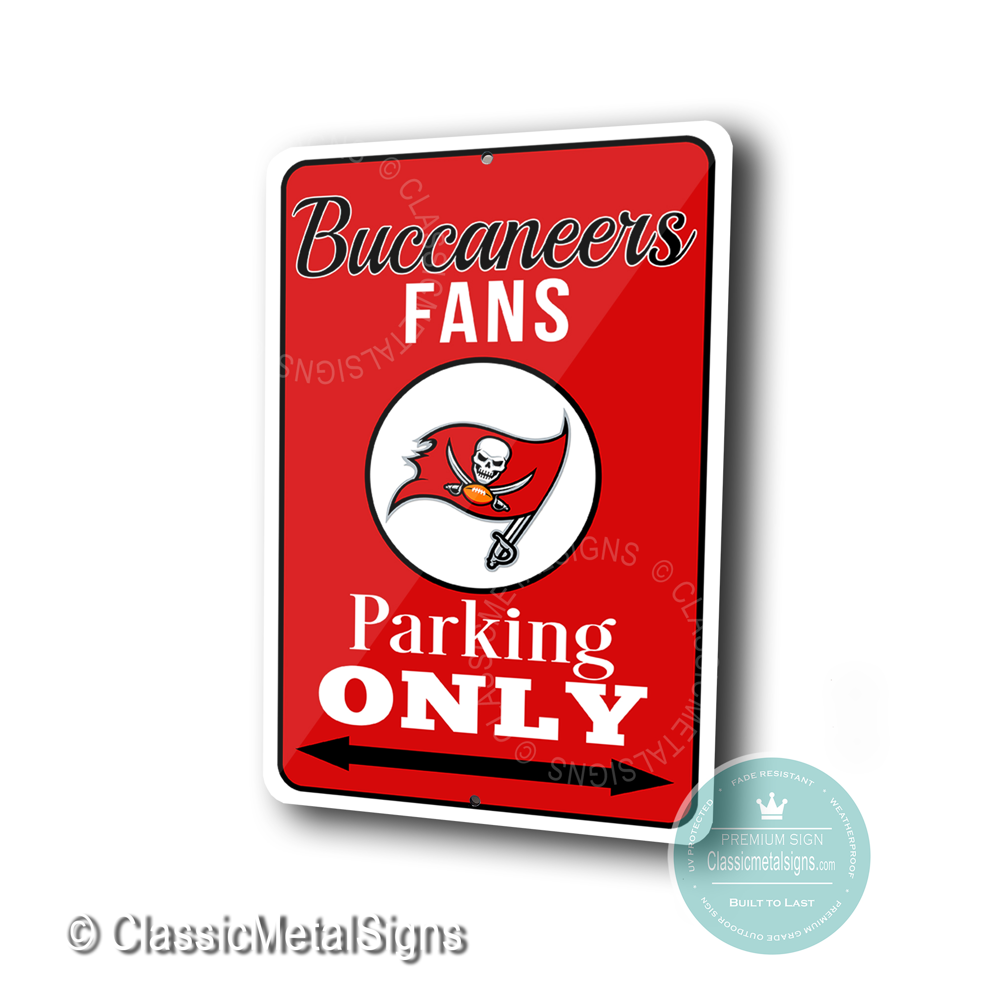 Tampa Bay Buccaneers Parking Only Signs