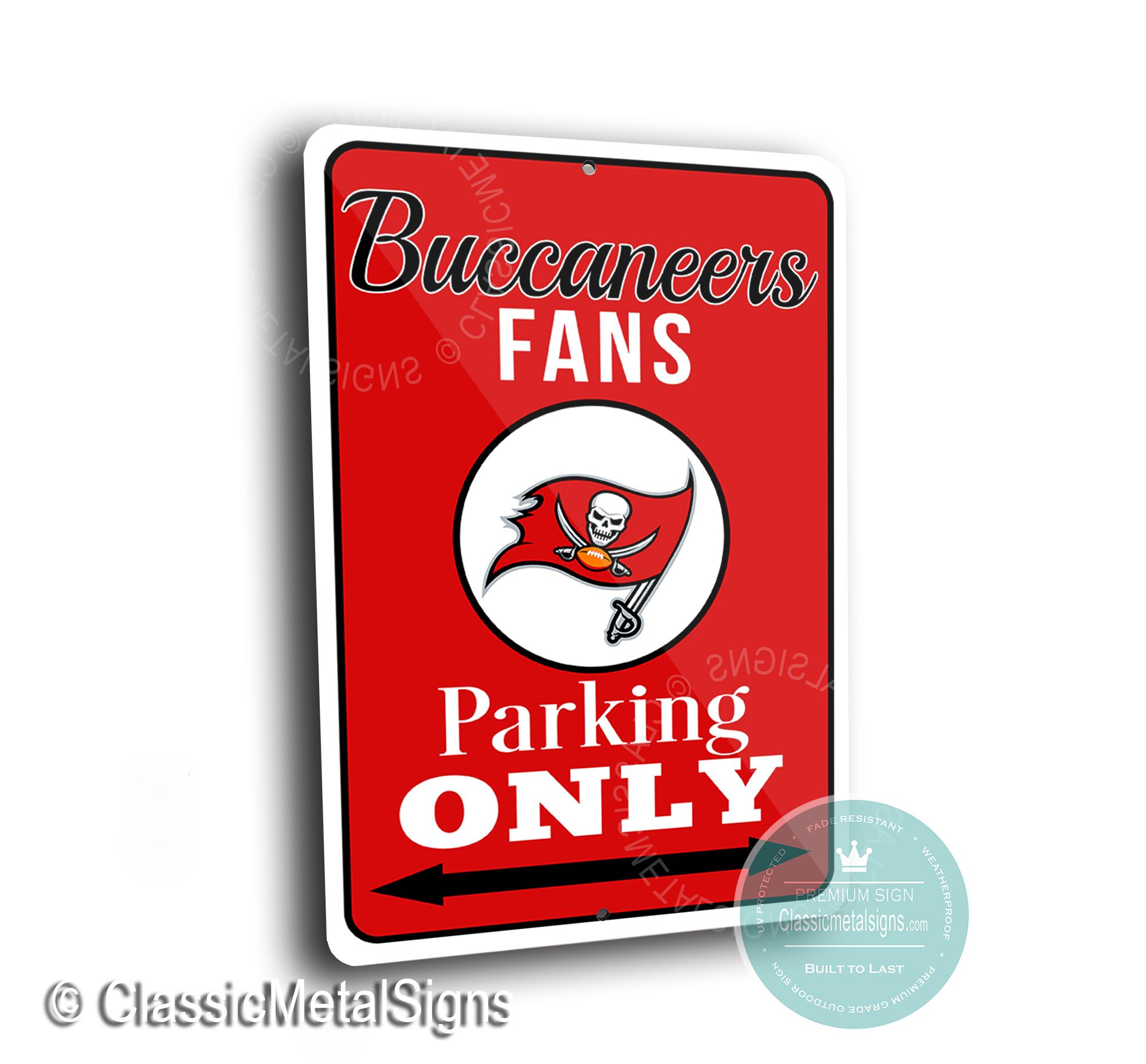 Tampa Bay Buccaneers Parking Signs