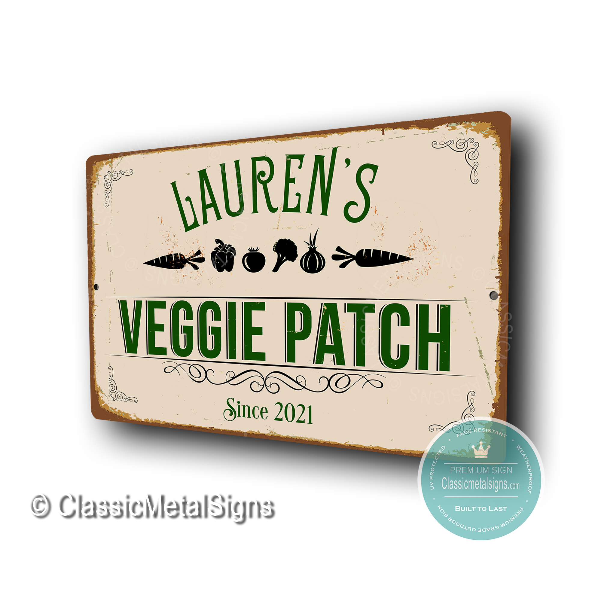 Custom Veggie Patch Sign