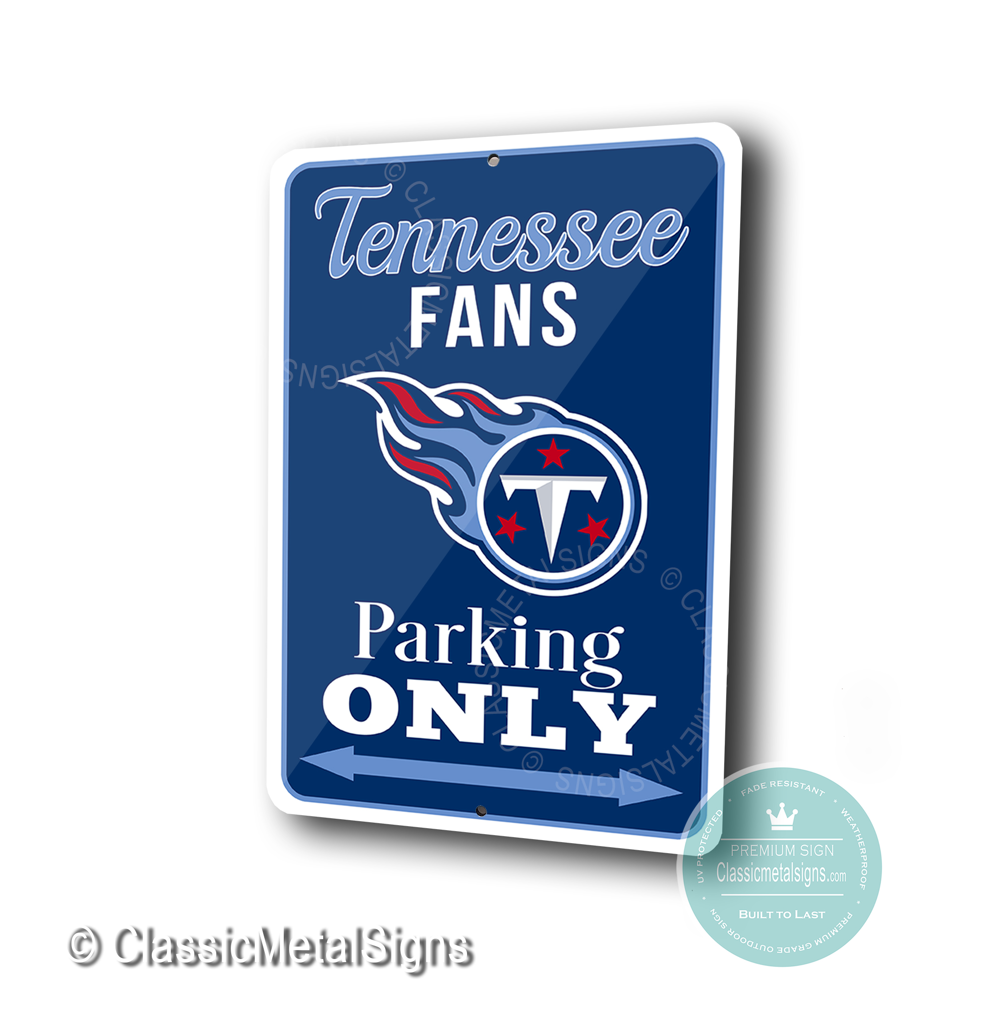 Tennessee Titans Parking Only Signs