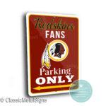 Washington Redskins Parking Sign