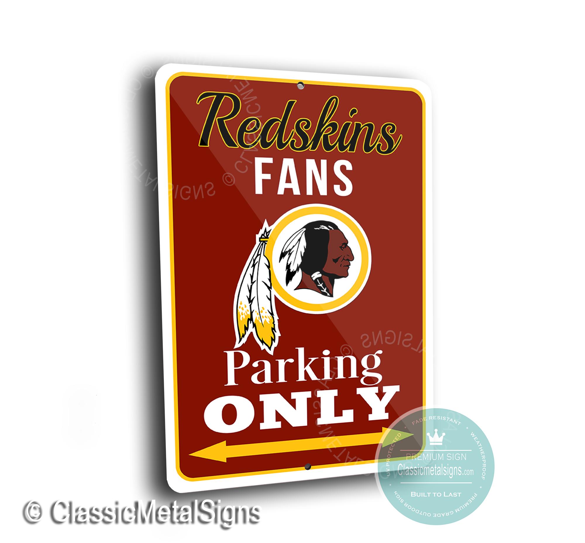 Washington Redskins Parking Signs