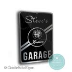 Alfa Romeo Spider Garage Sign