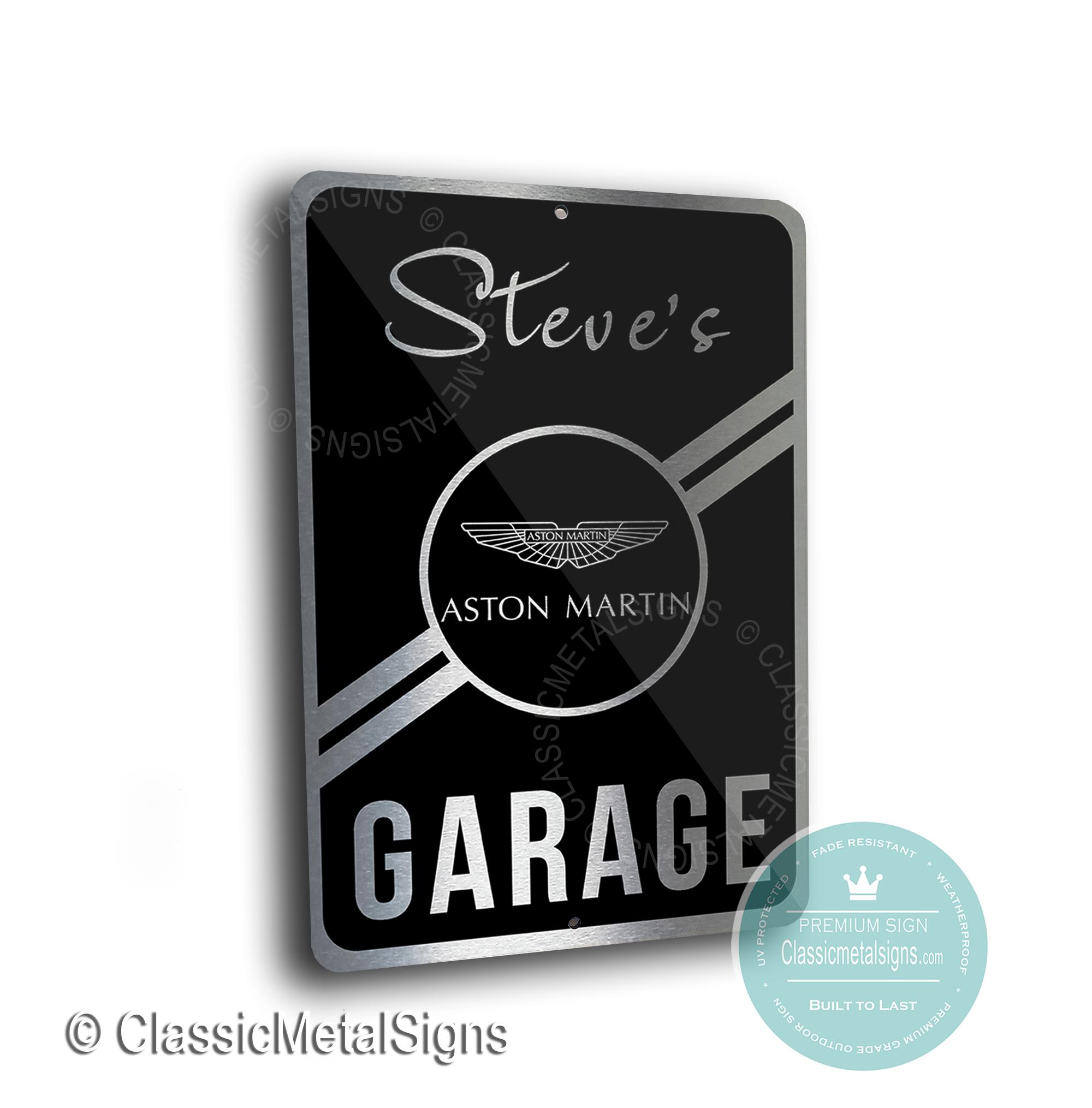 Aston Martin Garage Signs