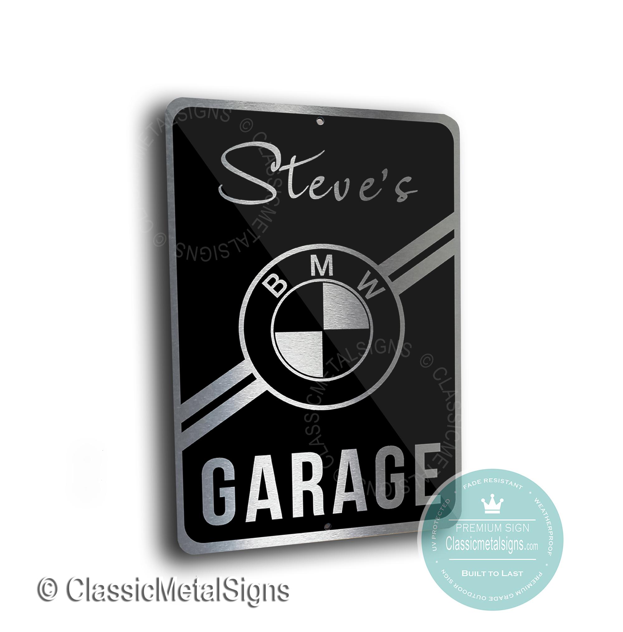 BMW Garage Signs