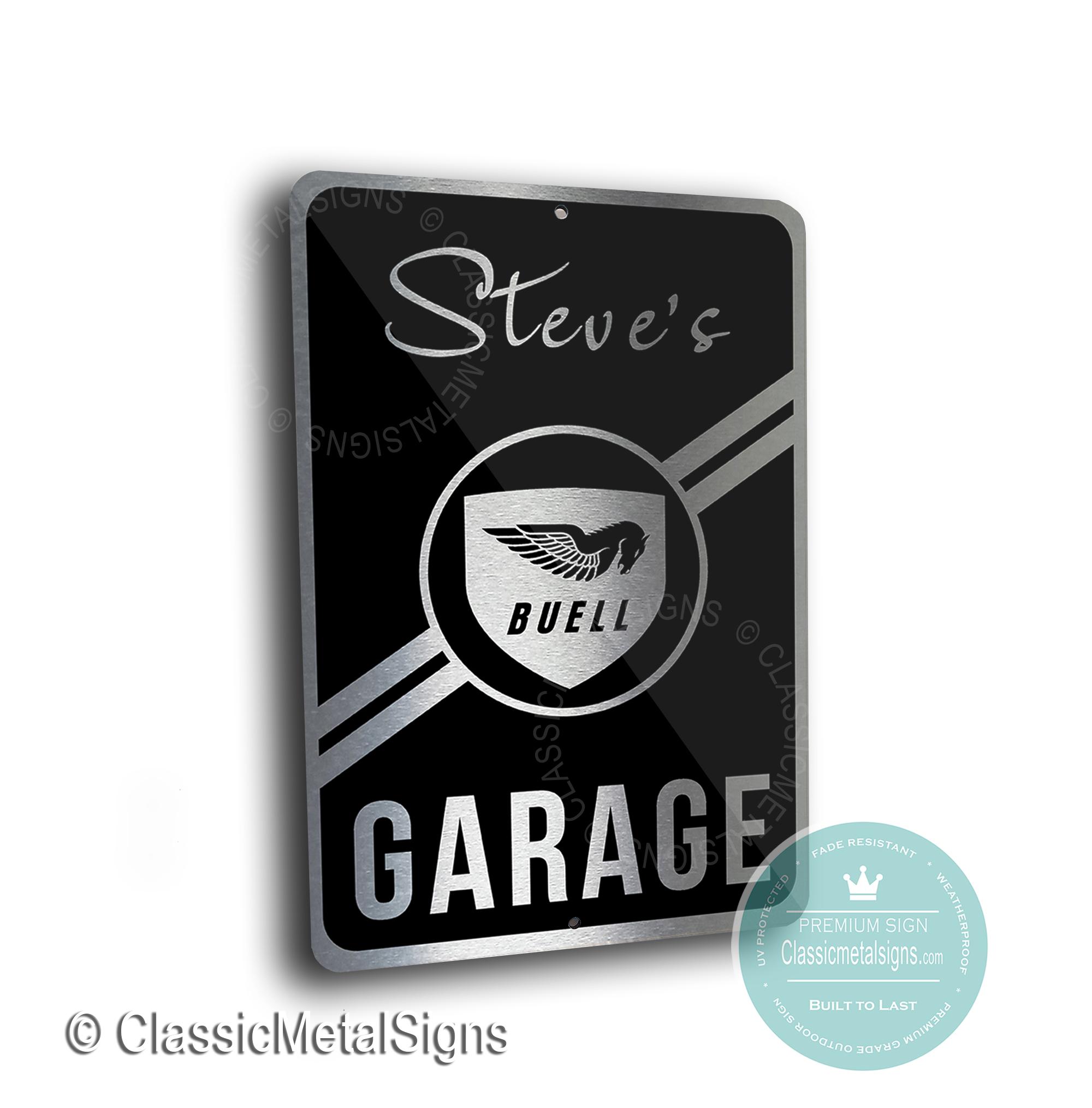 Buell Garage Signs