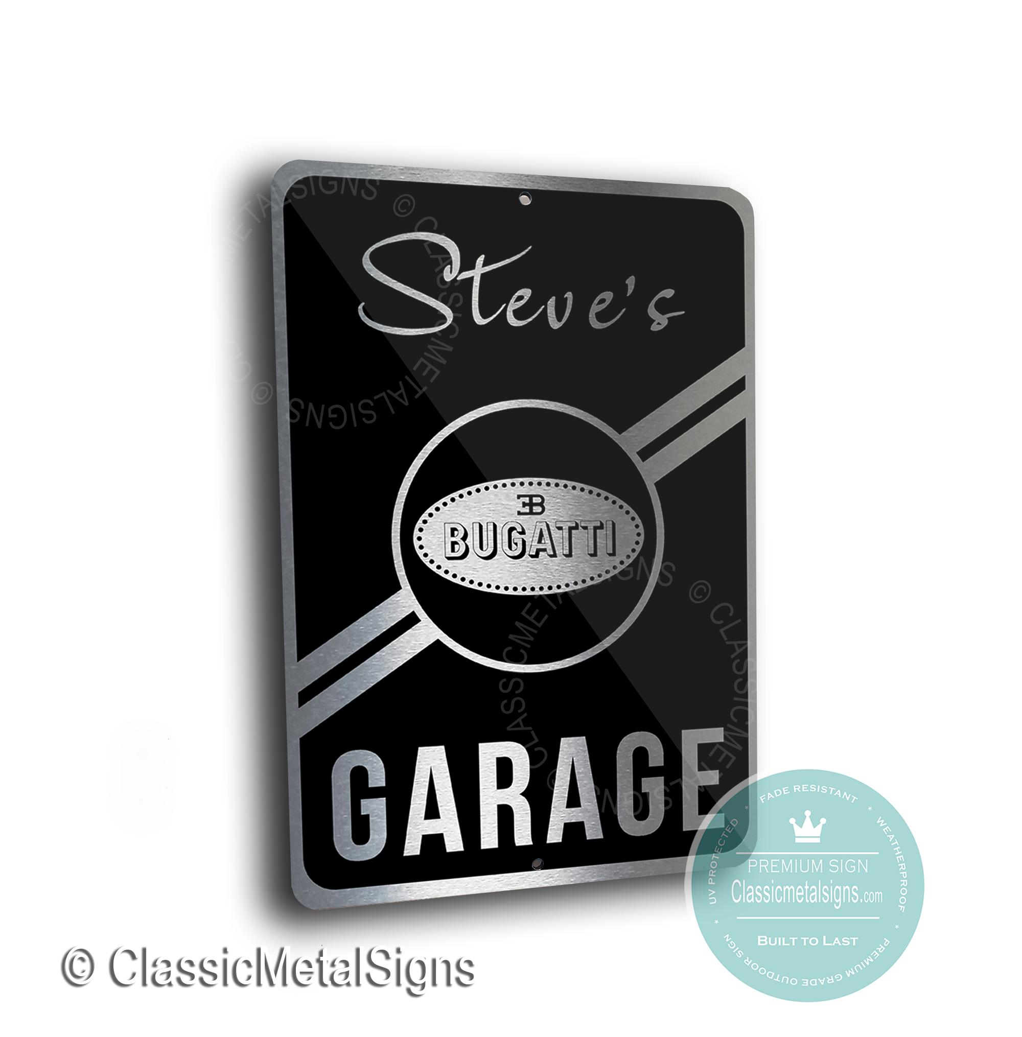 Bugatti Garage Signs