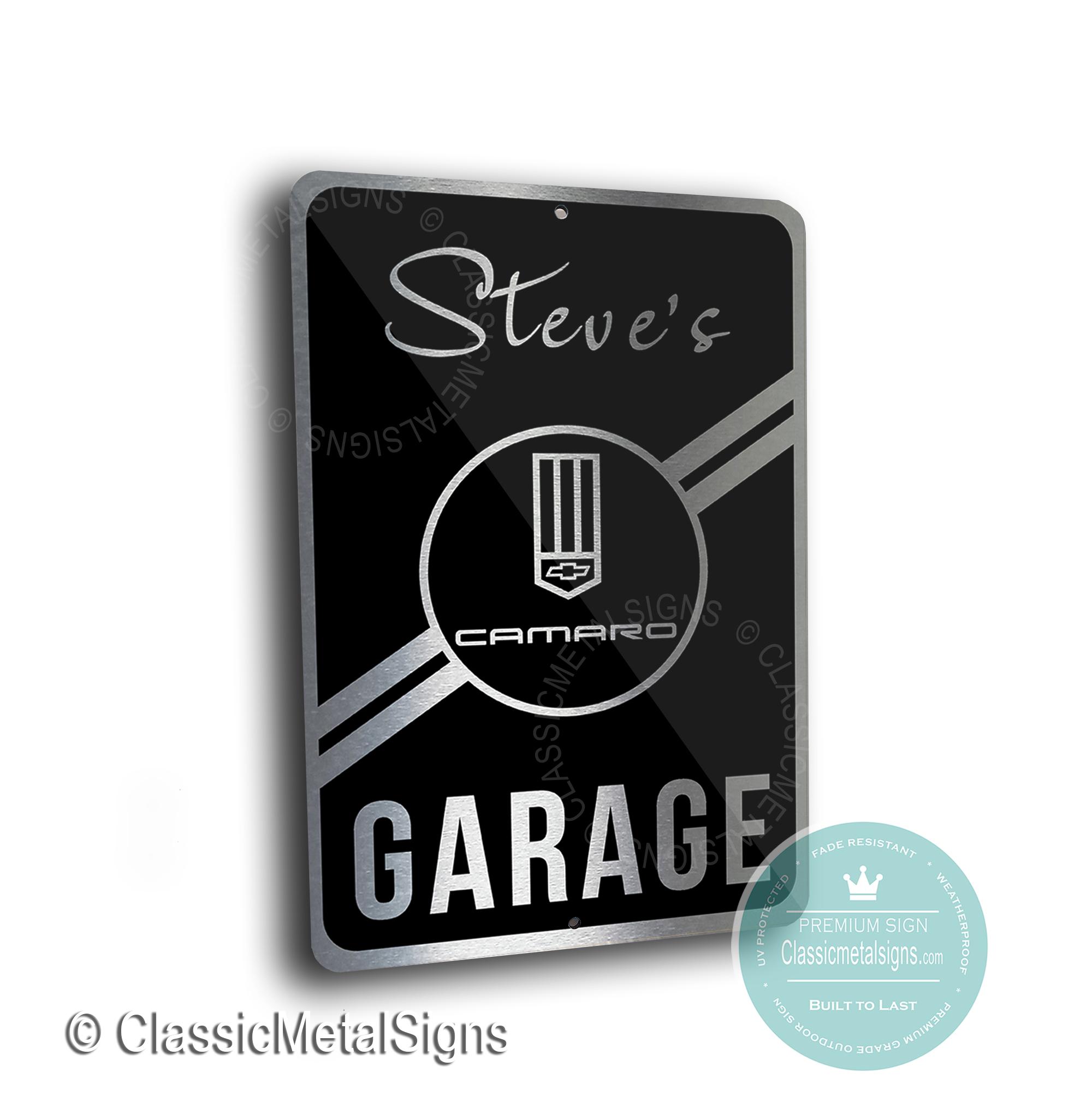 Camaro Garage Signs