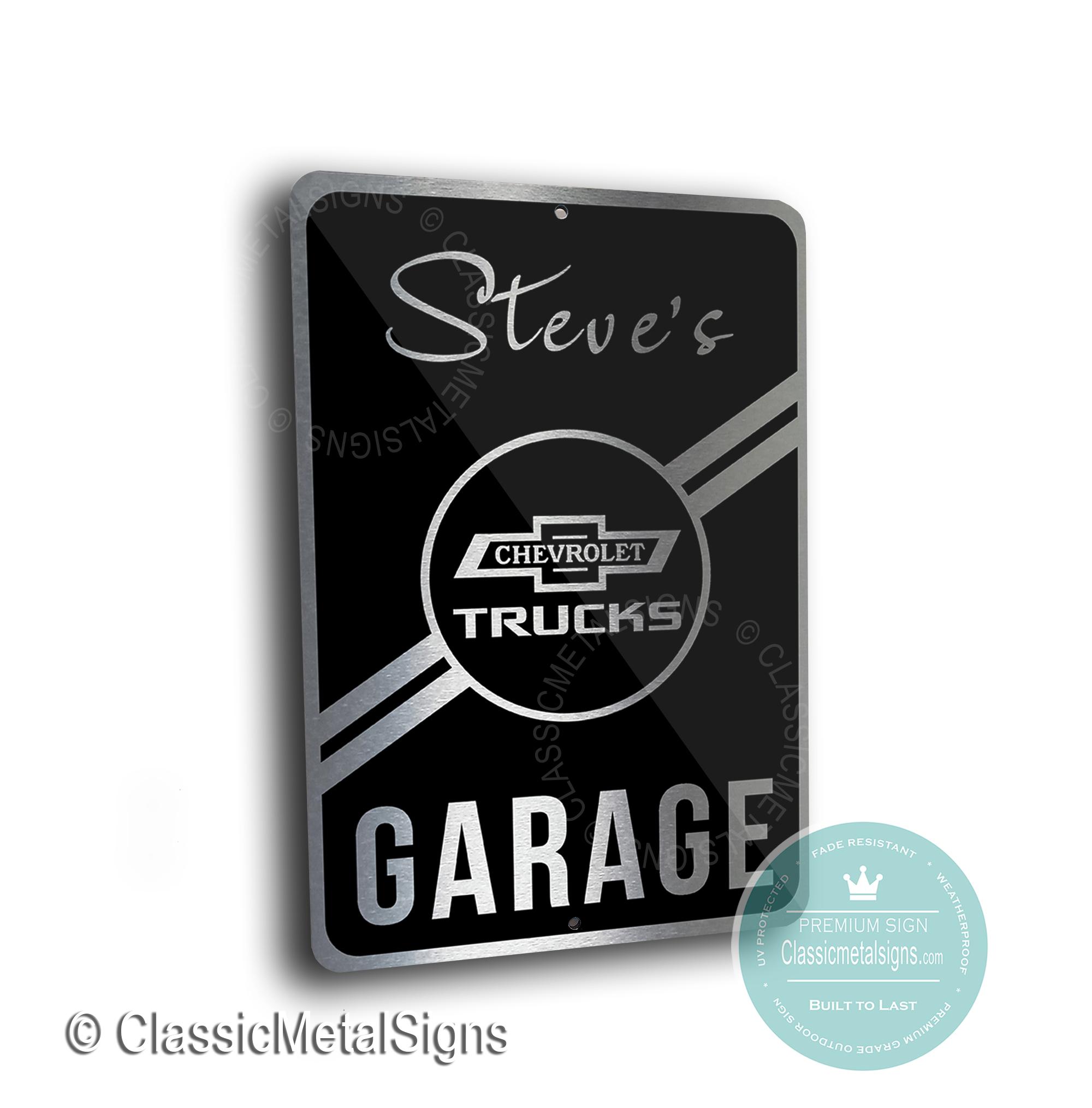 Chevrolet Trucks Garage Signs