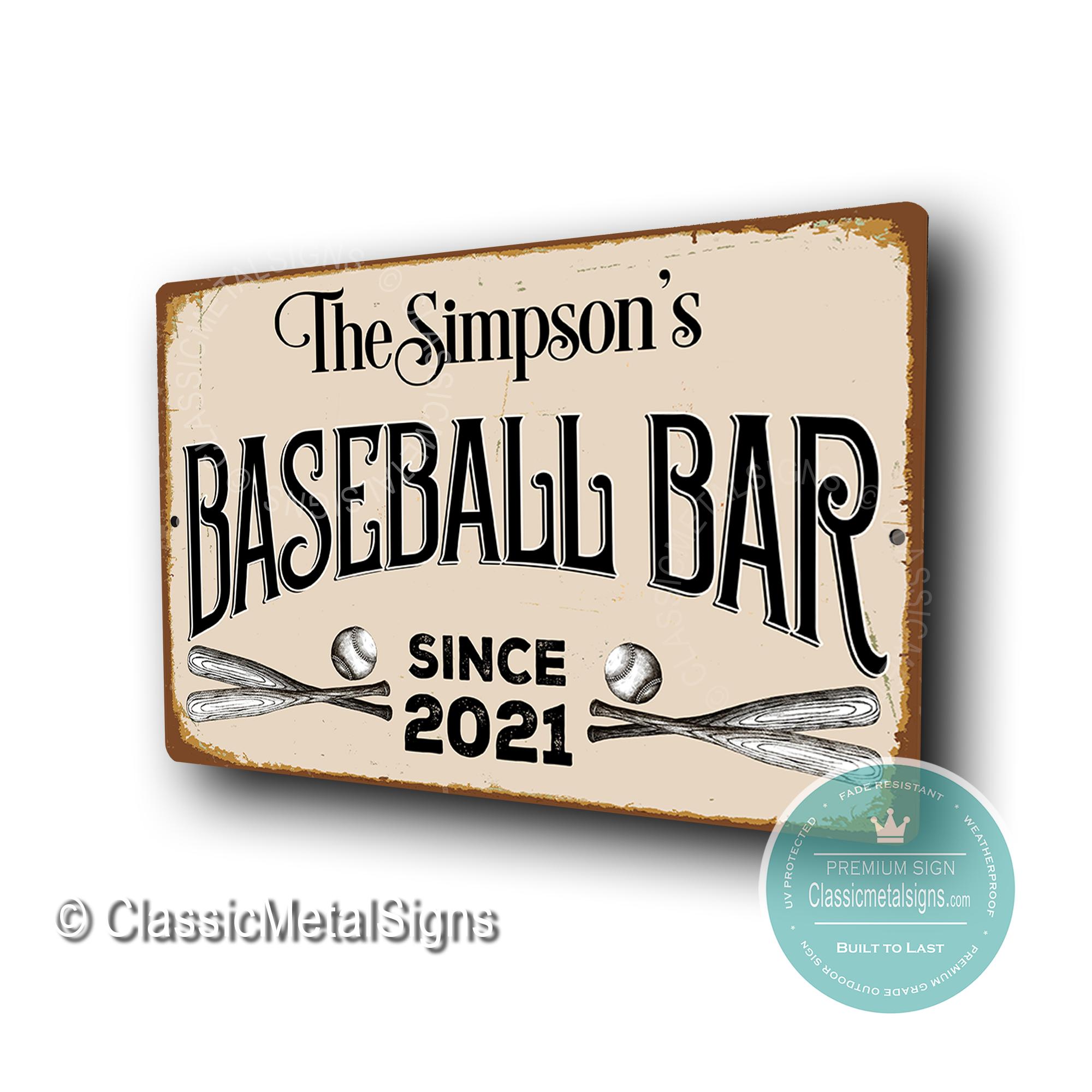 Custom Baseball Bar Signss