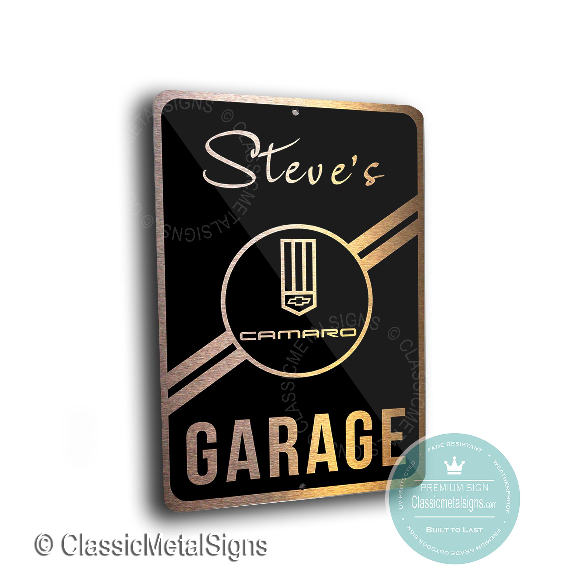 Custom Camaro Garage Signs