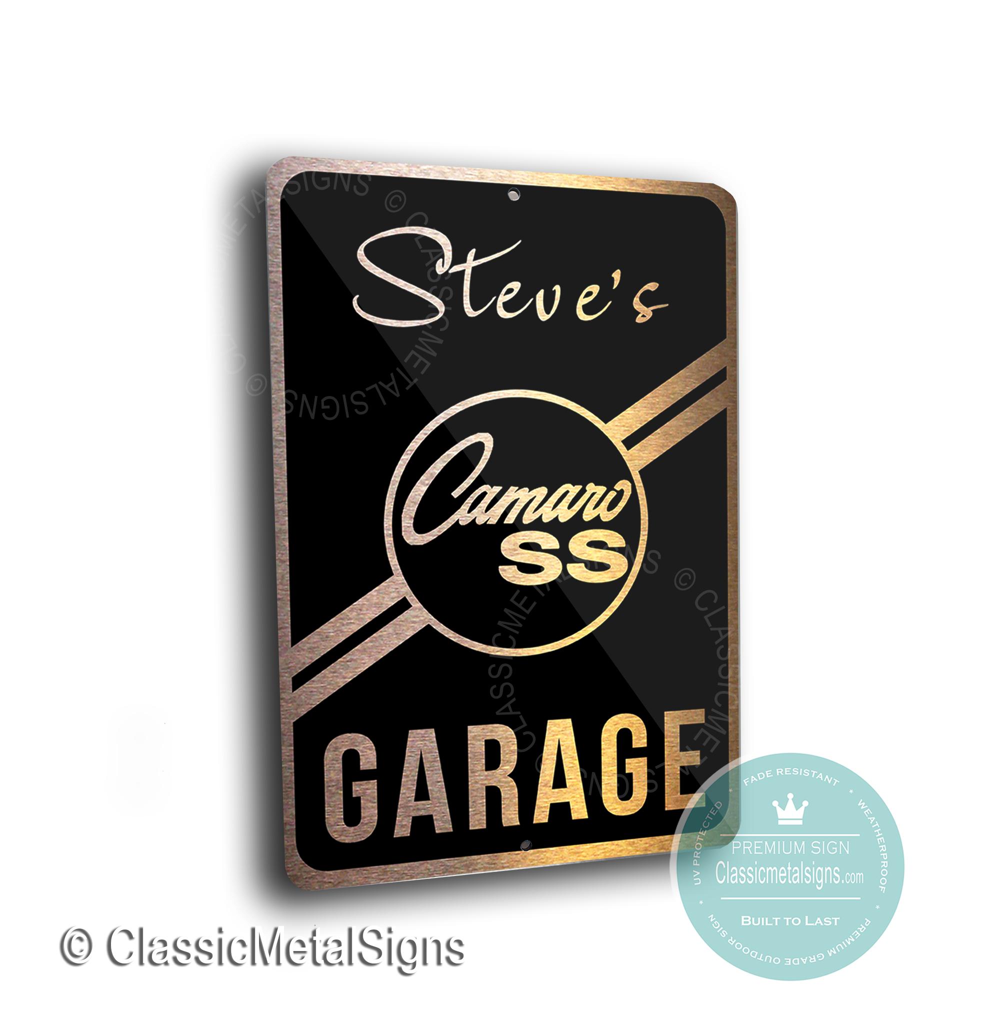 Custom Camaro SS Garage Signs