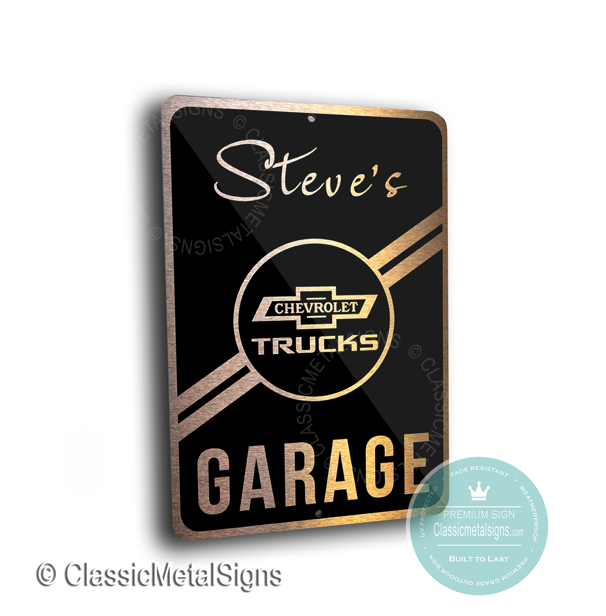 Custom Chevrolet Trucks Garage Signs