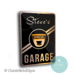 Custom Dacia Garage Signs